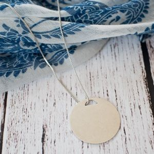Madewell Silver Disc Pendant